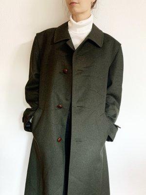 Vintage Wollen jas donkergroen