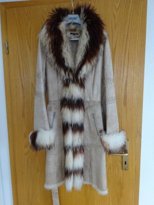 Abrigo de piel beige-marrón Pelaje