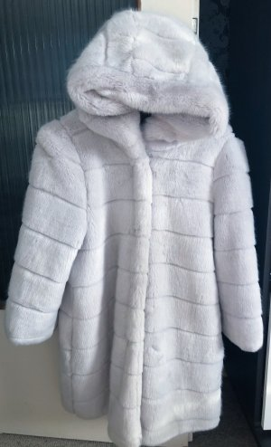 0039 Italy Fake Fur Jacket silver-colored
