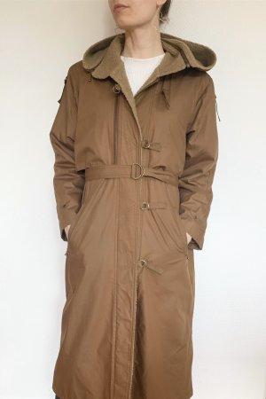 Vintage Hooded Coat brown
