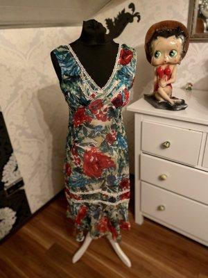 Super schönes Comma Maxi Sommerkleid Midi Kleid floral Gr 38