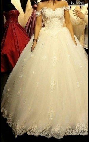 Super schönes Designer Brautkleid Hochzeitskleid in ivory Gr. 34/38