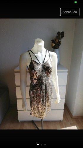Super schönes Kleid, Cocktailkleid, goldenes Paillettenkleid, Neu mit Etikett