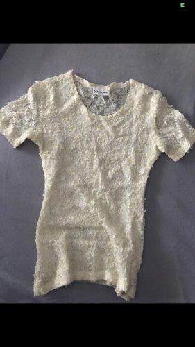 Verse Koronkowa bluzka kremowy-w kolorze białej wełny