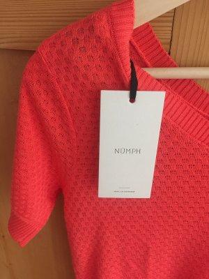 NÜMPF Gehaakt shirt rood-lichtrood