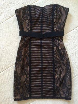Super sexy Corsagenkleid von BCBG MaxAzria in schwarz/nude, XS 32-34
