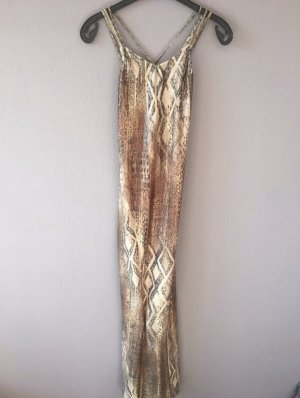 Feeling Sukienka tuba beżowy-ciemnobrązowy