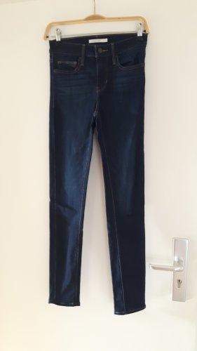 Levi's Hoge taille jeans donkerblauw-lichtbruin Gemengd weefsel
