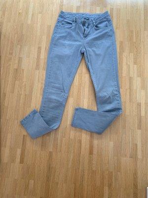 Ese O Ese Drainpipe Trousers light grey-azure