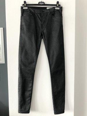 Super Skinny Jeans • Glitzer-Beschichtung Gr. 36/38