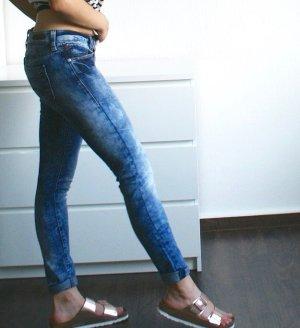 Mavi Pantalon cigarette bleu-bleu foncé coton