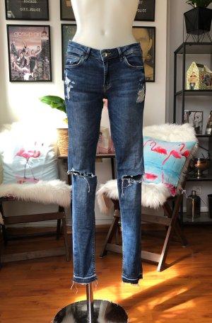 Super Skinny Low waist Cut Out Jeans H&M S/M