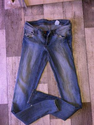 Super skinny low waist jeans blau