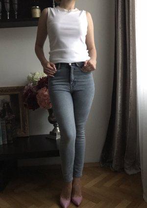 Zara Basic Jeans skinny grigio ardesia