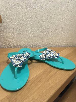 Ella Cruz High-Heeled Toe-Post Sandals multicolored