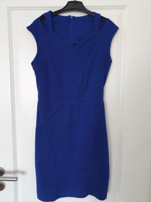 Super Stition Kleid Minikleid gr. 36 blau cut out top Zustand