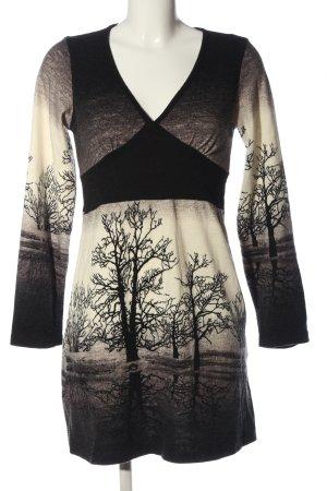 super stition Sweater Dress cream-black color gradient casual look