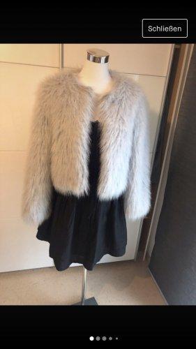 Zara Fur Jacket light grey
