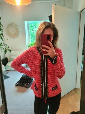 Kasjmier trui rood-blauw