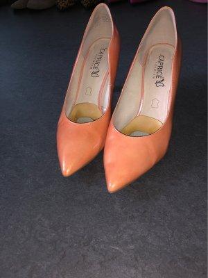 Caprice Décolleté con plateau arancione
