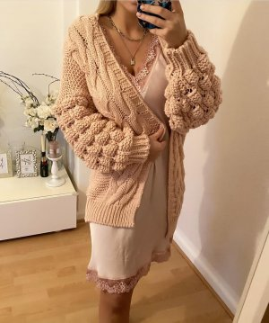 0039 Italy Knitted Cardigan rose-gold-coloured-cream