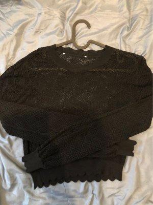 Super süsser transparenter Strick Pullover Gr 36