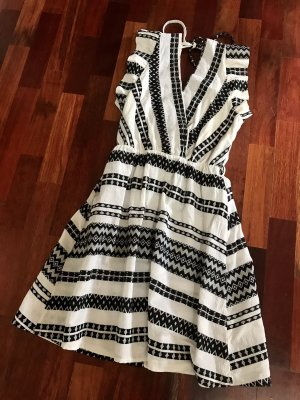 Vestido Hippie negro-blanco