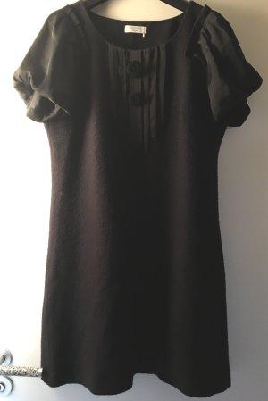 Apanage Robe trapèze noir laine