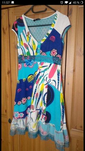 Super süßes Sommer-Kleid, türkis, blau, neuwertig, Gr.  36/38