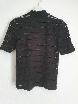 Unbekannte Marke Crochet Top black