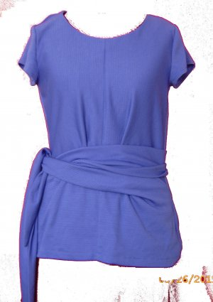 Unikat Wraparound Shirt purple-blue violet mixture fibre