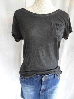 Super T-Shirt mit gehäkeltem Rücken