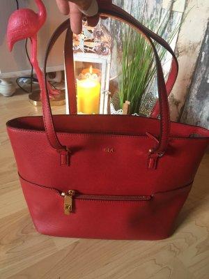 Ralph Lauren Frame Bag dark red