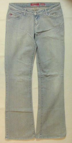 """Super Vintage Hüft-JEANS von MISS SIXTY """"Extra Low Ty""""..used..bootcut/flared leg..Größe W29, DE 38/40..für große Mädels !!"""