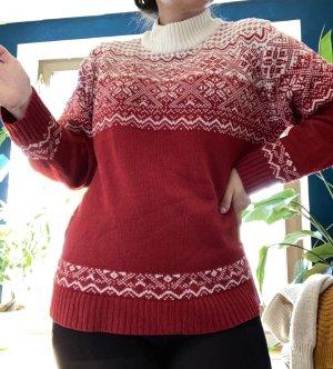 Super Vintage Strick Pullover in Rot.