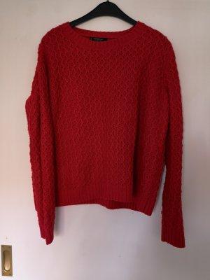 Super warmer Pullover in knallrot