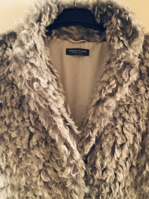 Marie Lund Fur vest silver-colored-light grey mixture fibre