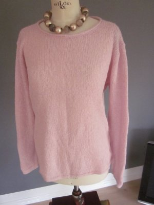 super weicher, bequemer, leichter rosa Pullover, Walbusch