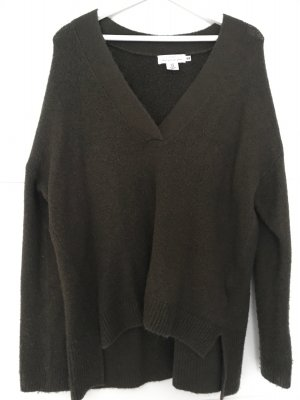 H&M Long Sweater olive green-dark green