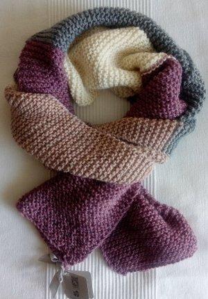 selfmade Bufanda de punto multicolor lana de alpaca