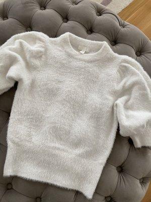 H&M Jersey de manga corta blanco-blanco puro