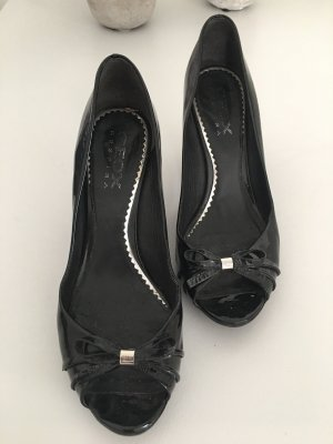 Geox Wedge Sandals black leather