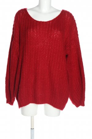 Superbugs Grobstrickpullover rot Casual-Look