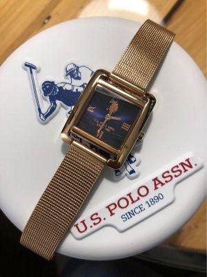 U.s. polo assn. Orologio con cinturino di metallo color oro rosa-blu scuro