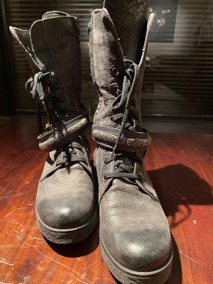 Botas moteras gris-negro