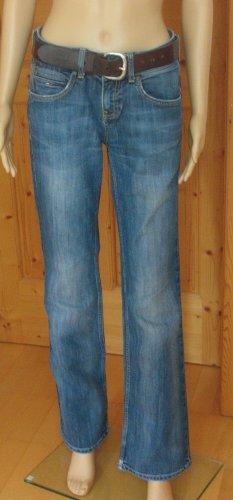 Tommy Hilfiger Jeansy o kroju boot cut stalowy niebieski-chabrowy