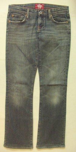 Supercoole Vintage Hüft-Jeans von AMISU..bootcut/leichter Stretchanteil/used..Größe W27, DE 34/36