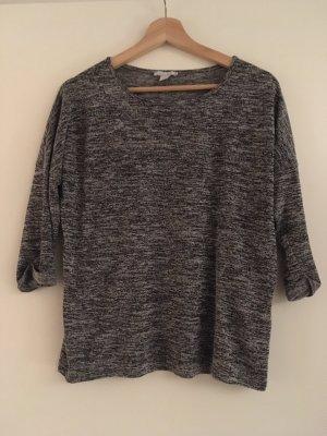 Amisu Lang shirt grijs-lichtgrijs
