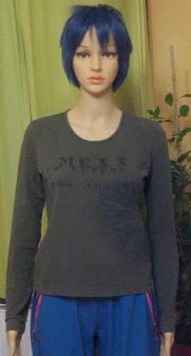 Supercooles MEXX Longsleeve/Shirt..khaki mit Print.. Größe S, DE 36/38
