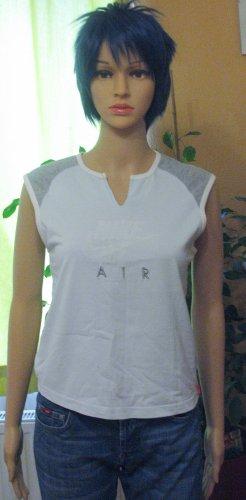 Supercooles Vintage NIKE Muskelshirt, Sportshirt, blassblau mit grau, Größe DE 38